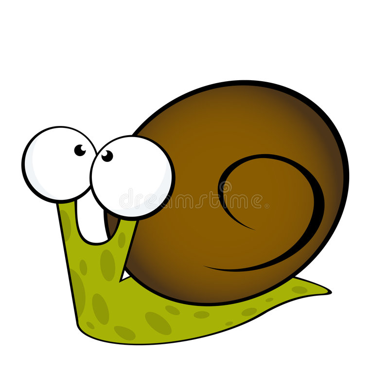 Snail stock illustration