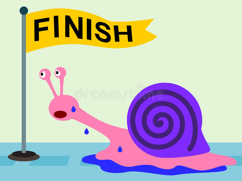 Snail Determination Stock Photos