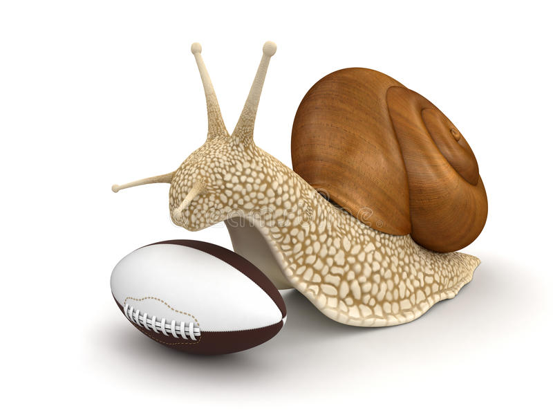 Download Snail And Football (clipping Path Included) Stock Illustration - Illustration: 34273749