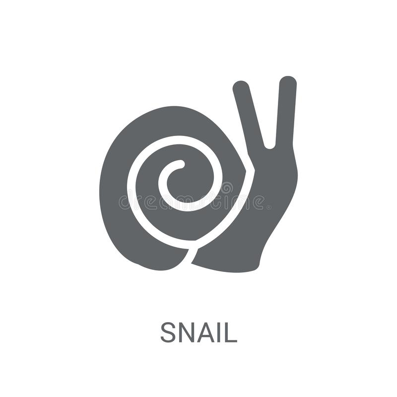Snail icon. Trendy Snail logo concept on white background from a royalty free illustration