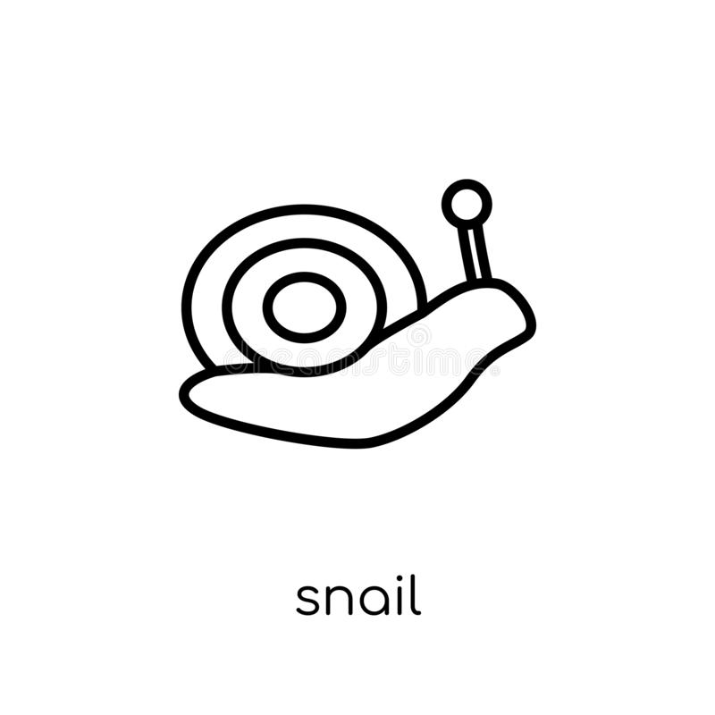 Snail icon. Trendy modern flat linear vector Snail icon on white vector illustration