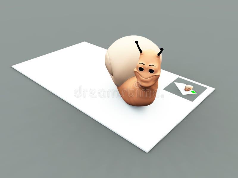 Download Snail Mail stock illustration. Illustration of message - 10550822