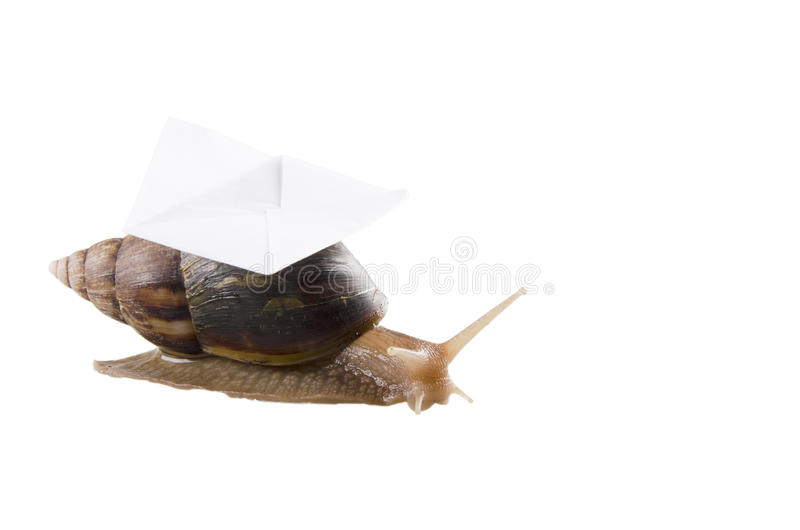 Snail mail stock photography