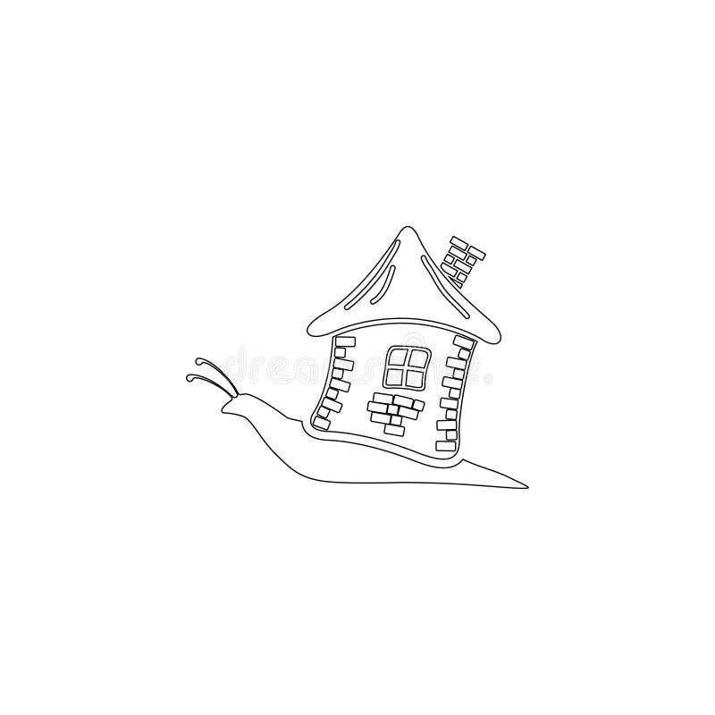 Snail med huset Plan vektorsymbol arkivbild