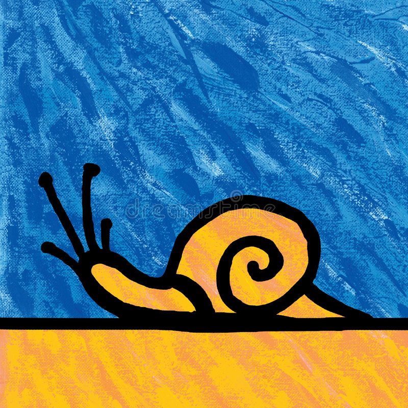 Snail painting stock illustration