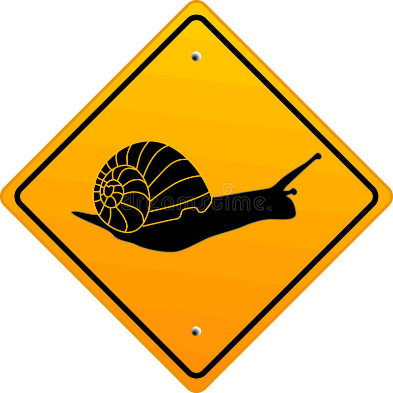 Snail sign. Step, symbol traffic stock illustration