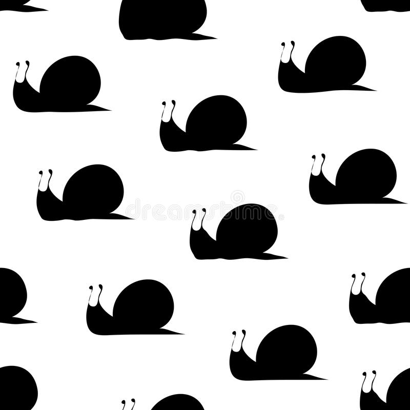 Snail silhouette pattern royalty free illustration