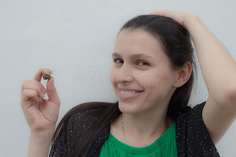 Snail Woman royalty free stock image