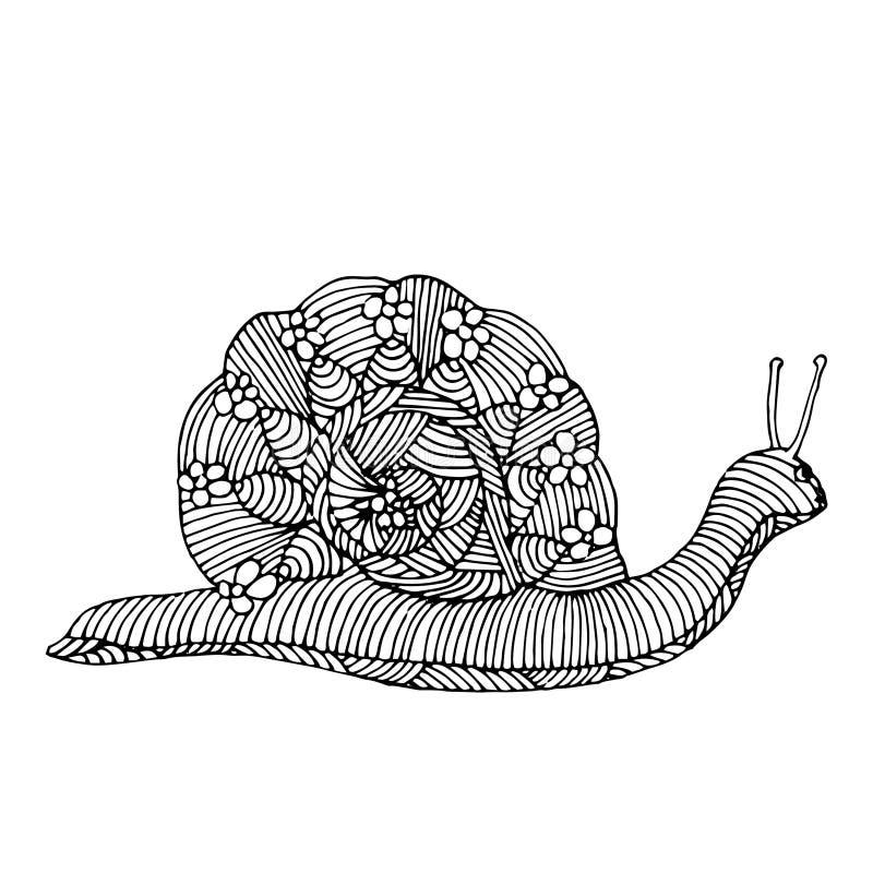 Snailillustration vektor illustrationer