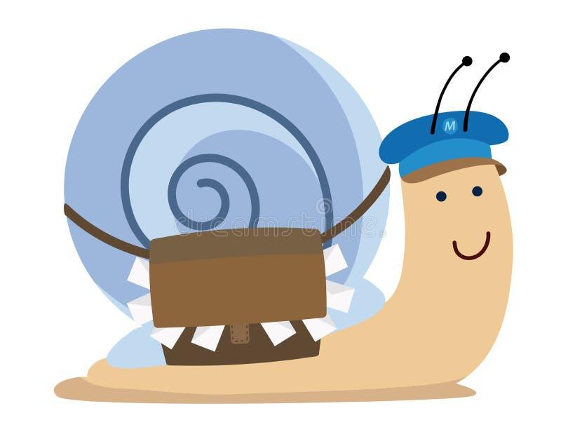 Snailpost stock illustrationer