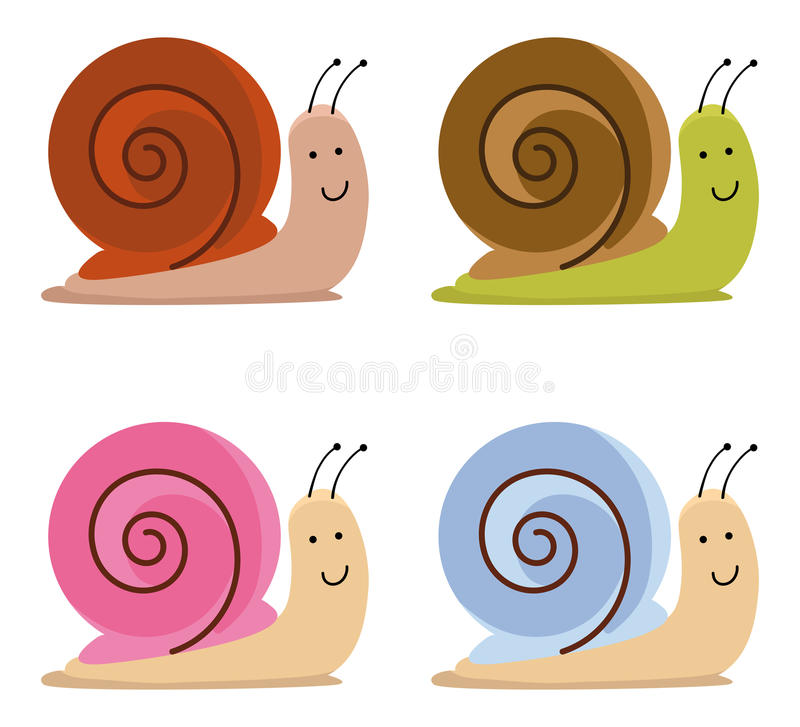 Download Snails stock vector. Image of design, creature, crawling - 23349055