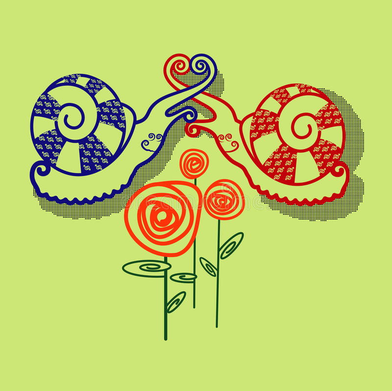 Download Snails stock vector. Illustration of life, shell, symbol - 33583569