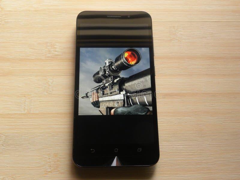 Snajpera 3D pistoletu strzelający obrazy stock