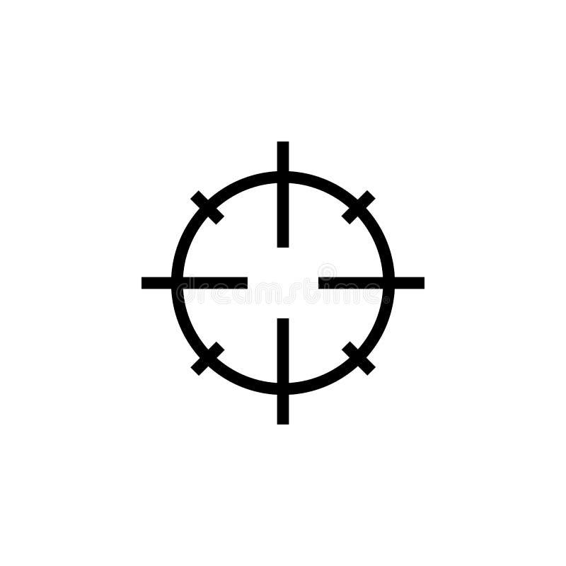Snajperscy zakres?w crosshairs cieniej? ikon? ilustracji