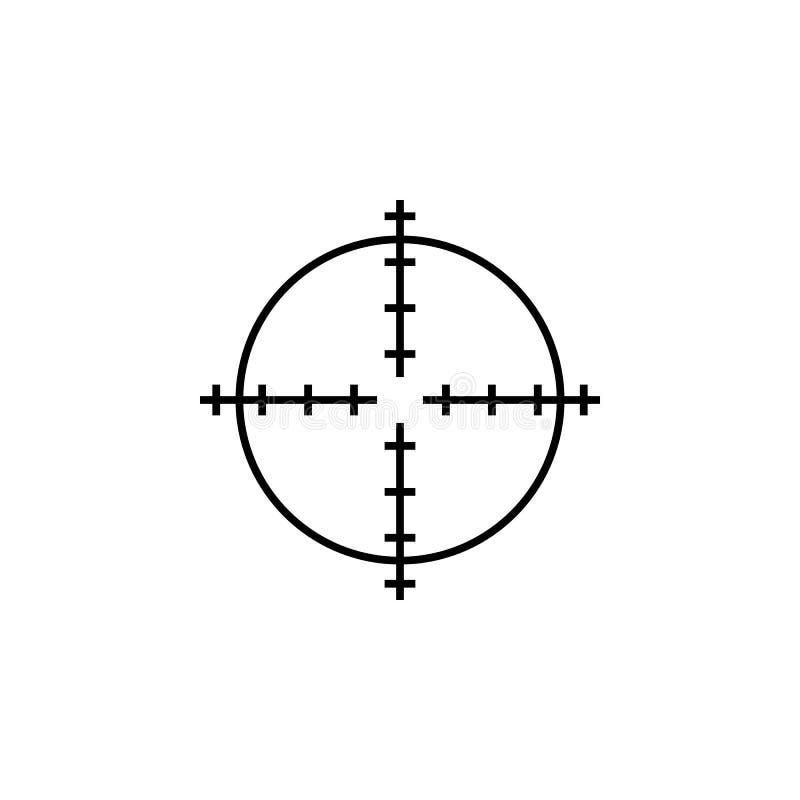 Snajperscy zakres?w crosshairs cieniej? ikon? ilustracja wektor