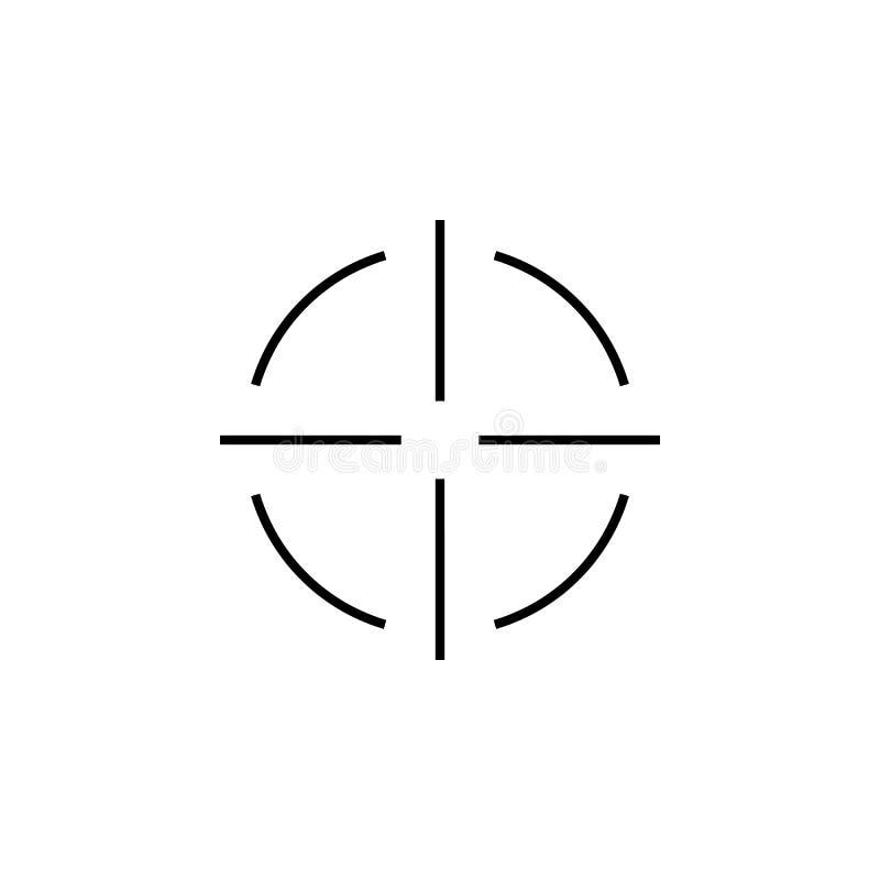 Snajperscy zakres?w crosshairs cieniej? ikona set ilustracja wektor