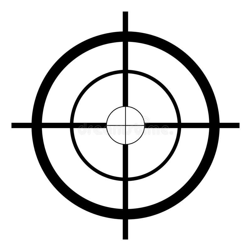Snajperska cel ręka rysująca, wektor, Eps, logo, ikona, sylwetki ilustracja crafteroks dla różnego używa Odwiedza m?j stron? inte royalty ilustracja