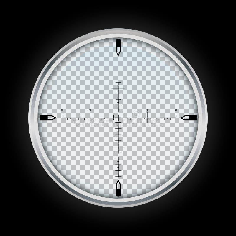 Snajperska crosshair ikona, realistyczny styl ilustracja wektor