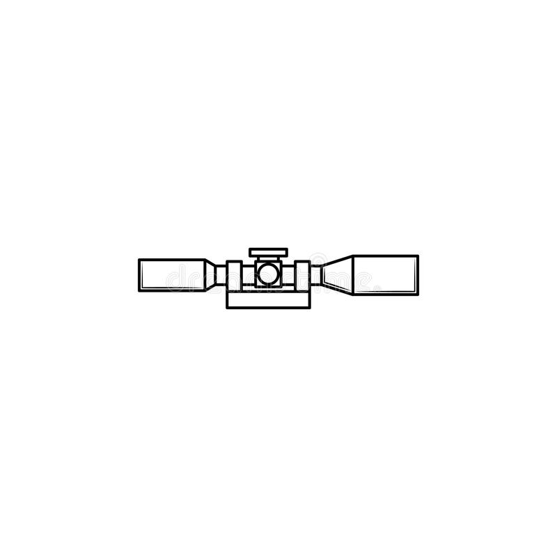Snajperska zakres ikona royalty ilustracja