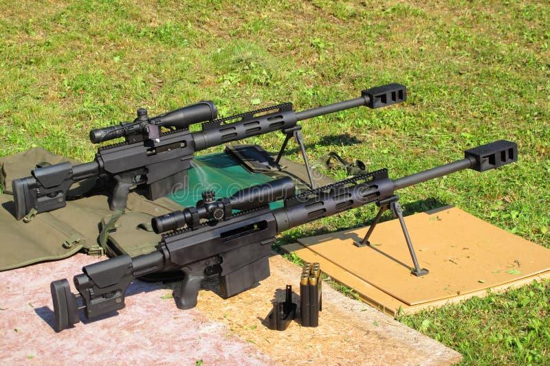 Snajperskich karabinów kaliber 50 BMG zdjęcie stock