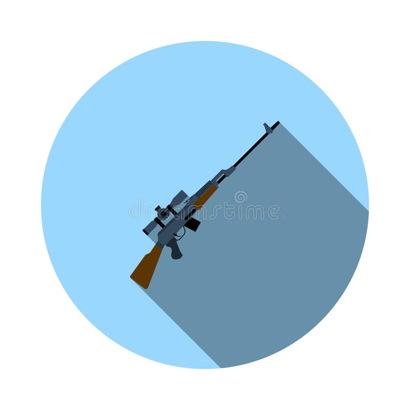 Snajperskiego karabinu ikona ilustracji