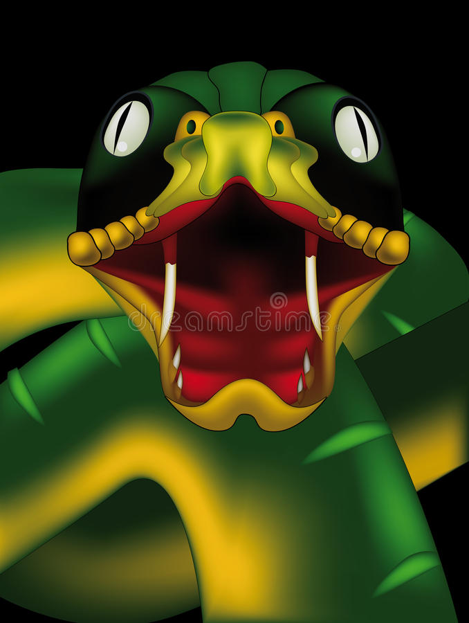 Download Snake stock vector. Image of cartoon, pets, head, forked - 12851288