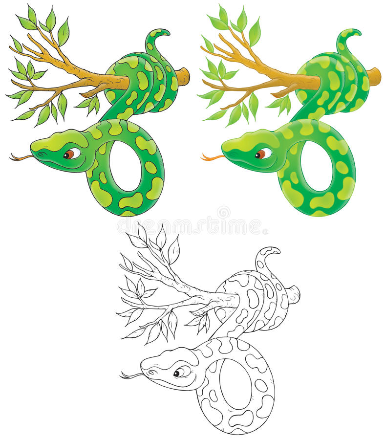 Download Snake stock illustration. Illustration of isolated, black - 15929220