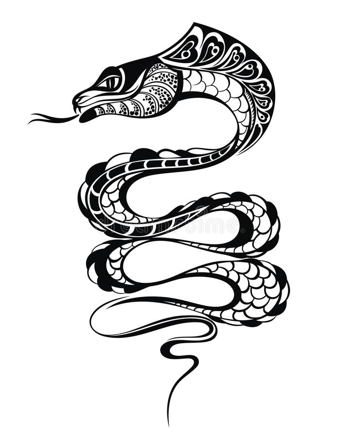 snake 2013 tattoo design stock vector illustration of line 28633530. Black Bedroom Furniture Sets. Home Design Ideas
