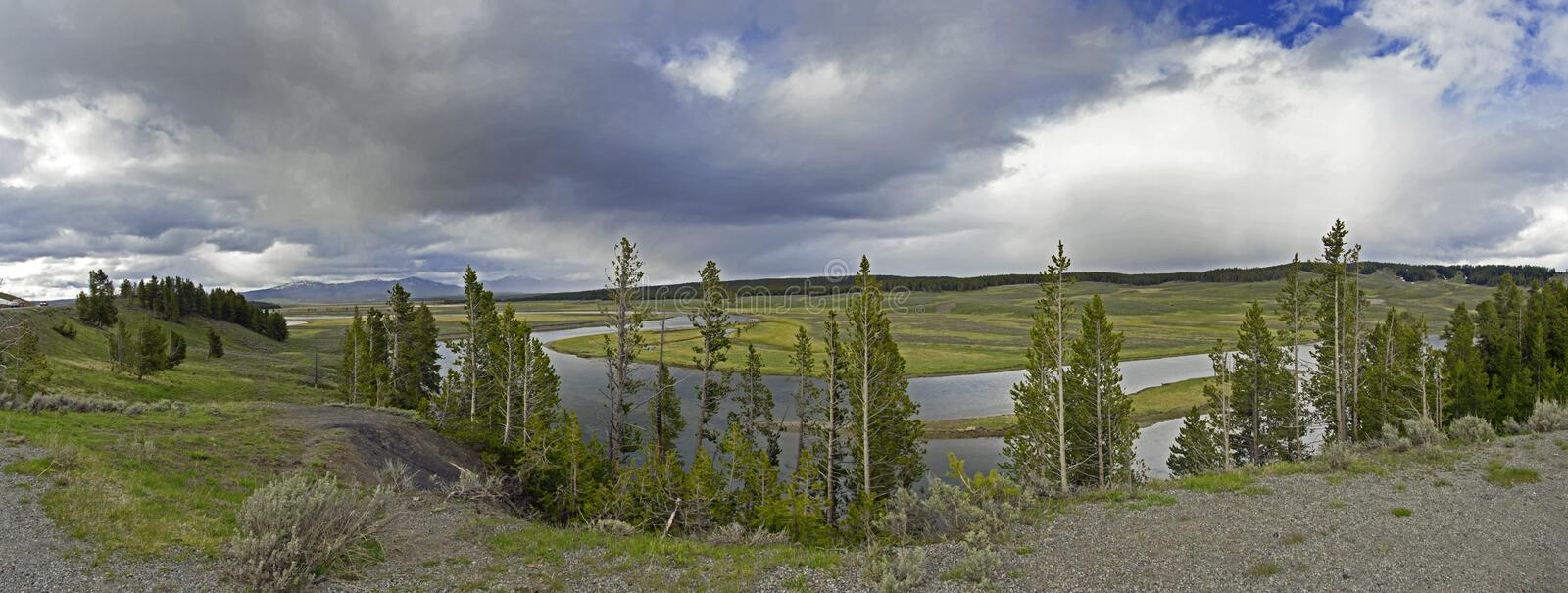 Snake Bend river in Grand Tetons National Park royalty free stock images