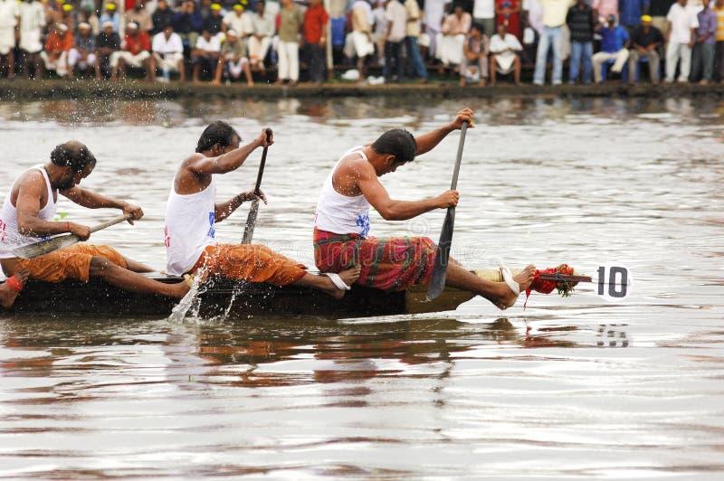 The snake boat races of Kerala stock photo