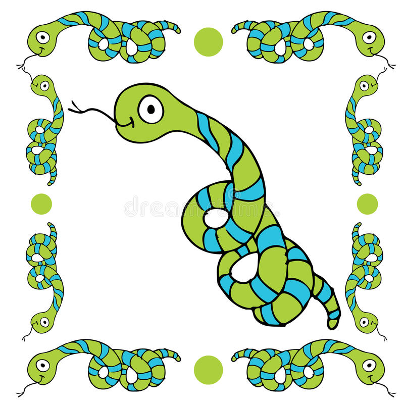 Snake Border Stock Photography