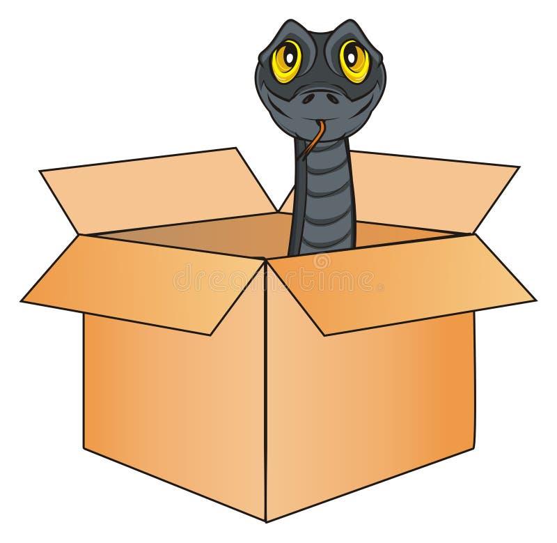 snake in box stock illustration illustration of predator 102344535