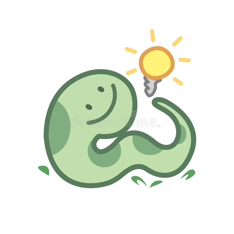Snake Cartoon Character Cute Isolated On White Background ...