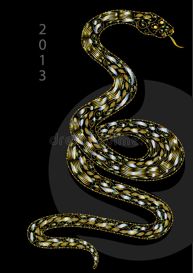 Download Snake Celebrating Christmas Stock Illustration - Image: 24109216