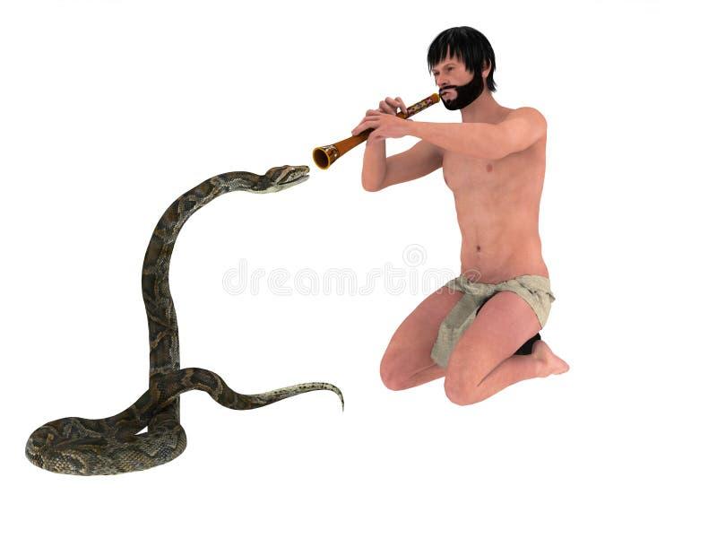 Download Snake Charmer stock illustration. Illustration of sway - 19226125
