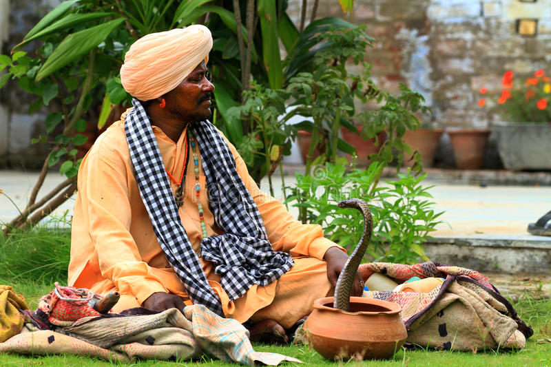 Download Snake charmer editorial stock image. Image of turban - 26027439