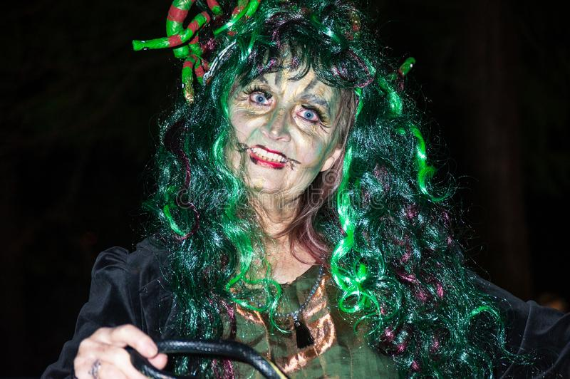 Download Snake charmer at Halloween editorial photo. Image of excited - 102769696