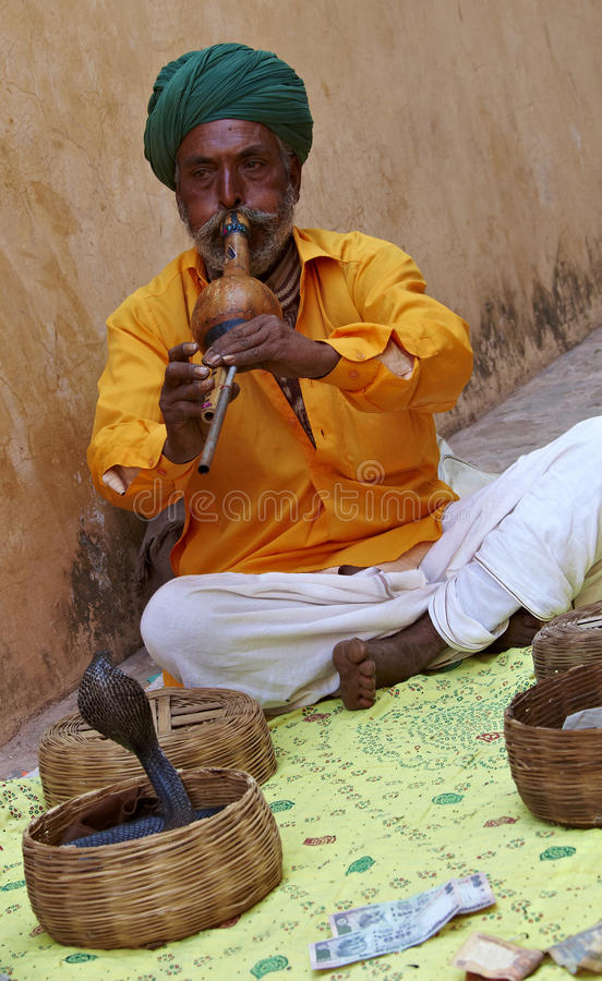 Free Snake Charmer. India. Rajasthan. Stock Images - 21419244