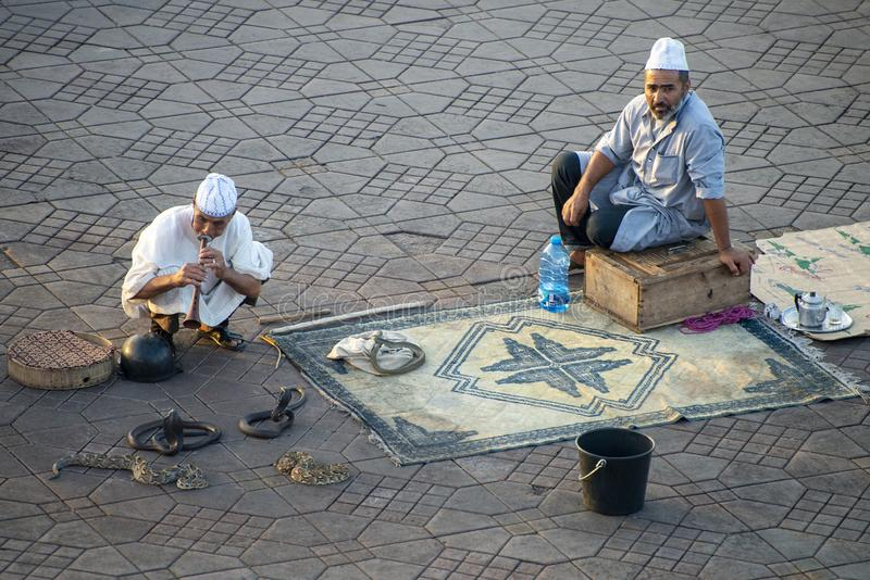 Snake Charmer, Morocco Travel, People, Culture fotografia stock libera da diritti
