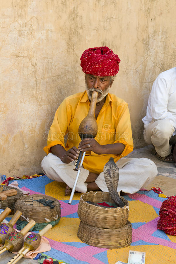 Free Snake Charmer, People From India, Travel Scene Royalty Free Stock Photo - 40359095