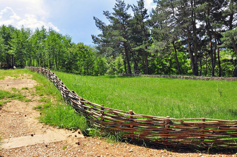 Curved Wooden Fence Stock Photos Download 378 Royalty