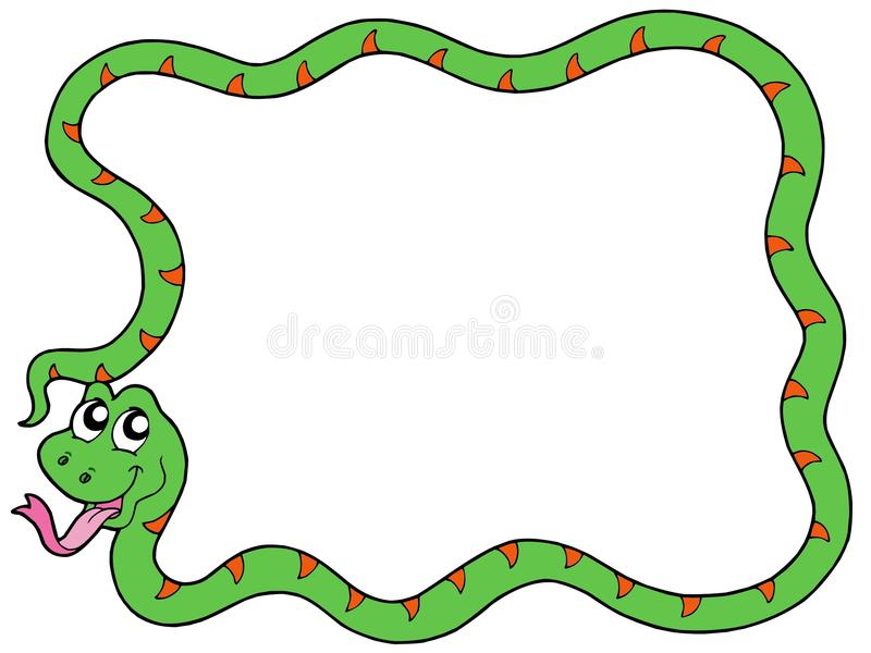 Snake frame 2 vector illustration