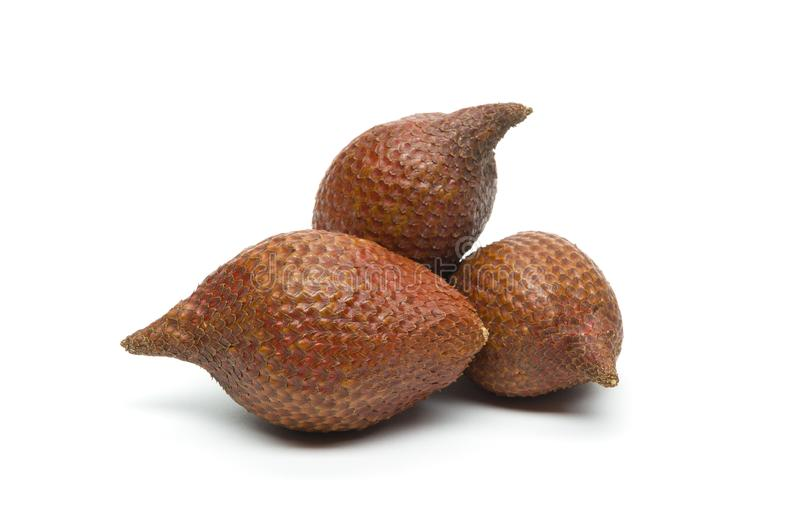 Snake fruit isolated on white royalty free stock photos