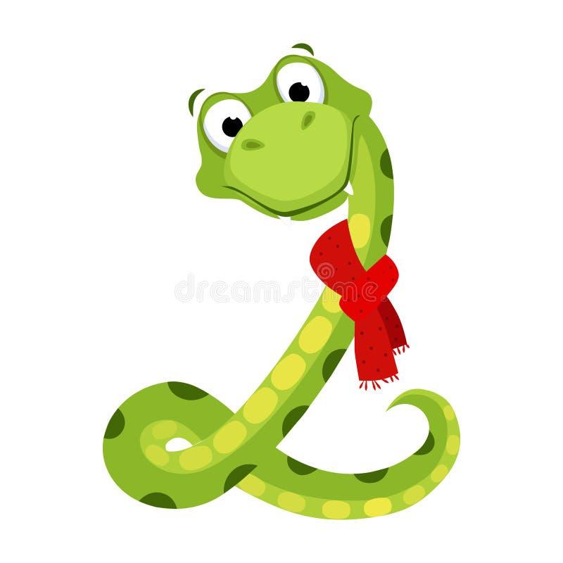 Snake. Funny Alphabet, Animal Vector Illustration. Snake. Funny Alphabet, Colourful Animal Vector Illustration stock illustration