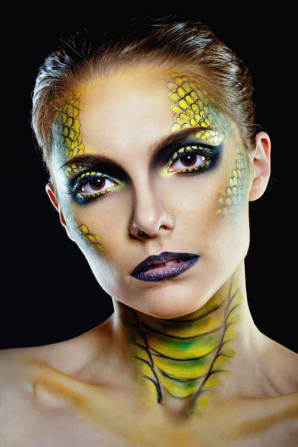 Snake Girl Stock Image. Image Of Predator, Creative