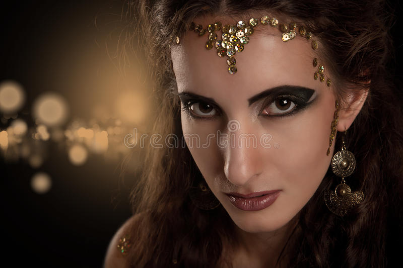 Snake girl portrait royalty free stock images