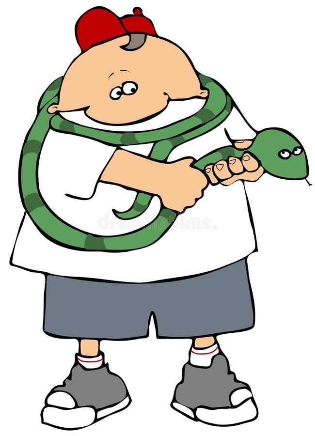 Snake Handler royalty free illustration