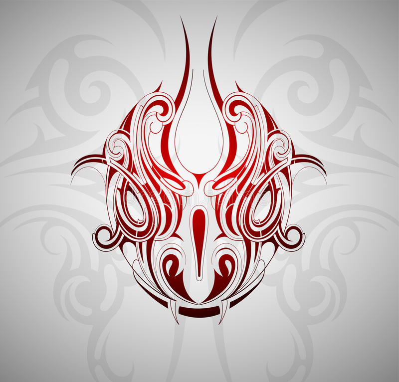 Snake head tattoo royalty free illustration