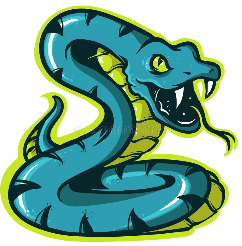 Snake icon for logo and mascot vector illustration