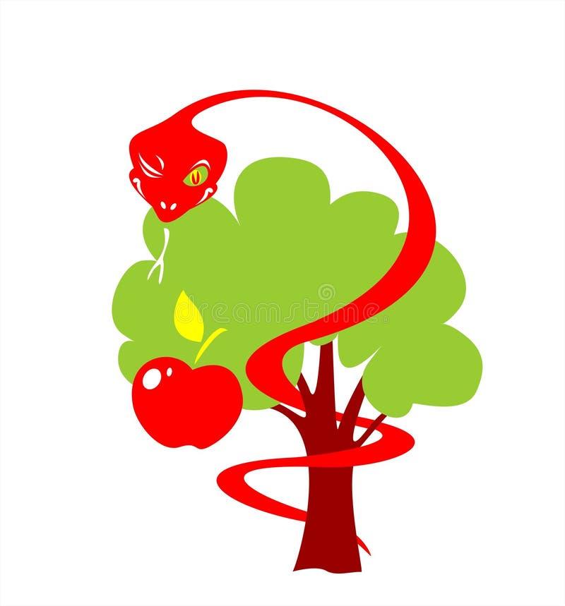 snake jabłkowego royalty ilustracja